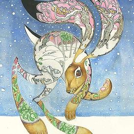 Hare Greeting Card