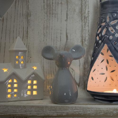Grey Ceramic Mouse