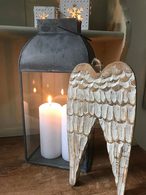 Carved Wooden Angel Wings