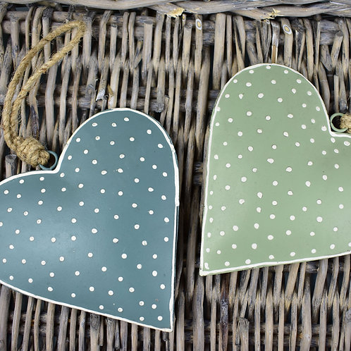 Green Metal Hearts from Parlane