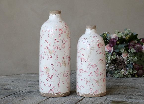 Pink Floral Ceramic Vase