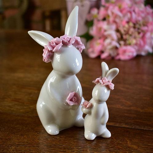 White Porcelain Rabbit Ornaments