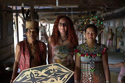 borneo dayak bölgesi iban yerlileri