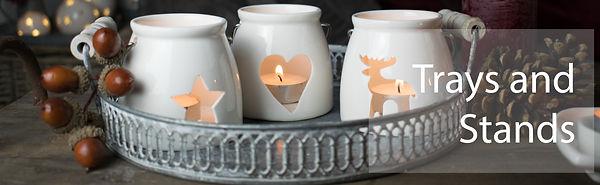 Decorative Zinc Tray with Tealights