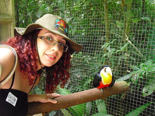 Tukan kuşu ve gezgin hemşire brezilyada