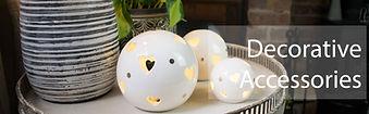 LED Light up Globes on Decorative Table