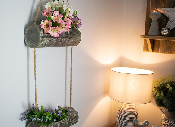 Two Tiered Metal Planter for Indoors