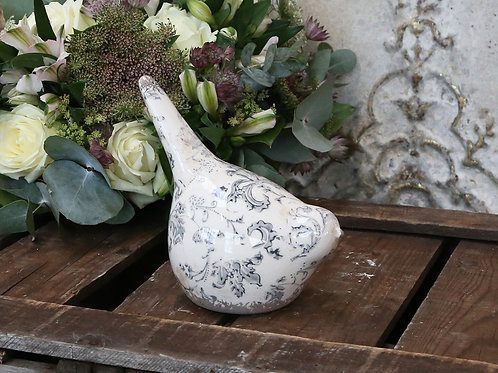 Ceramic Bird Ornament with Vintage Feel