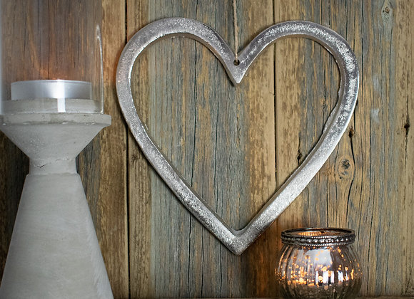 Small Hanging Nickel Heart Ornament