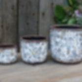 Blue/Grey Patterned Ceramic Plant Pots