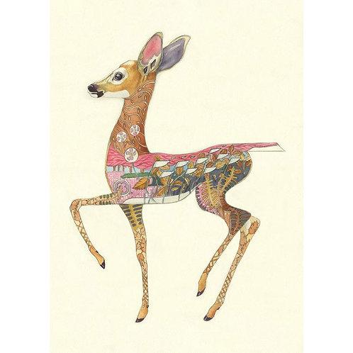 Fallow Deer Fawn Greetings Card