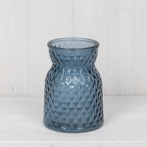 Blue Glass Handtied Vase
