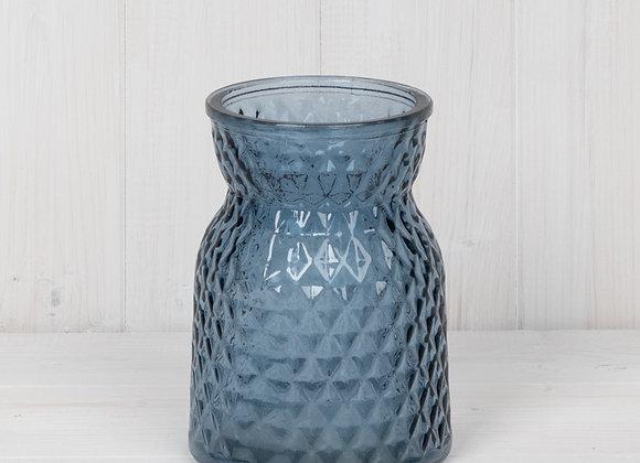 Blue Glass Handtied Vase
