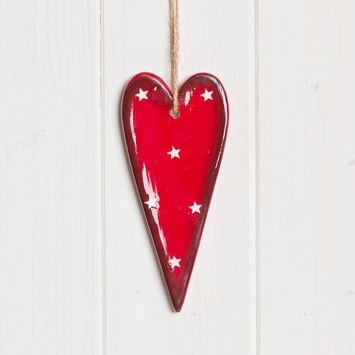 Small Hanging Ceramic Heart