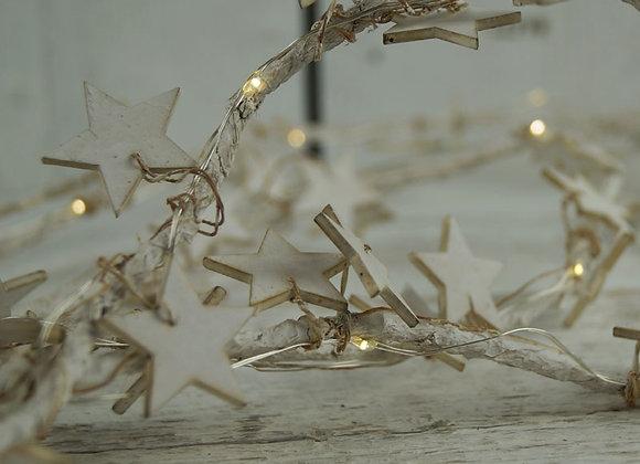 White Star LED Garland