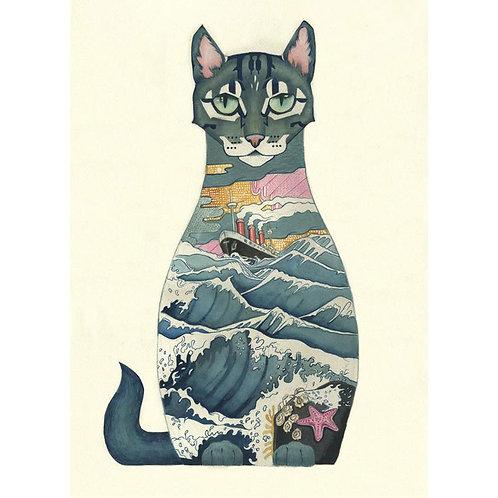 Ship's Cat Greeting Card