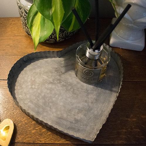 Small Zinc Heart Tray