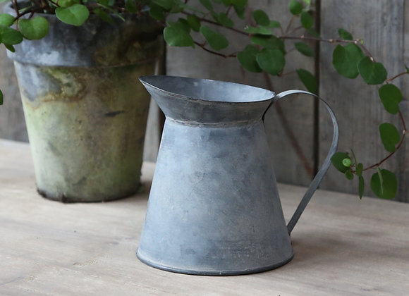 Small Zinc Jug for Faux Flowers