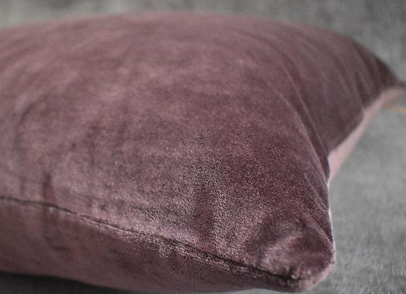 Comfy Grape Velvet Cushion