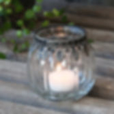 Fluted Glass Tealight Holder