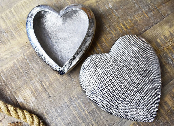 Small Textured Heart Dish or Ornament Gift