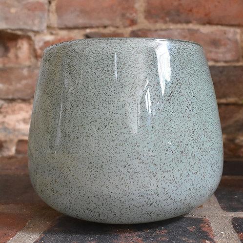 Pretty Green Flecked Glass Bowl