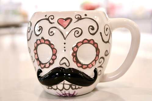 Sugarskull Moustache Mug