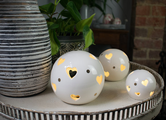 Ceramic Ornaments with Internal LEDs