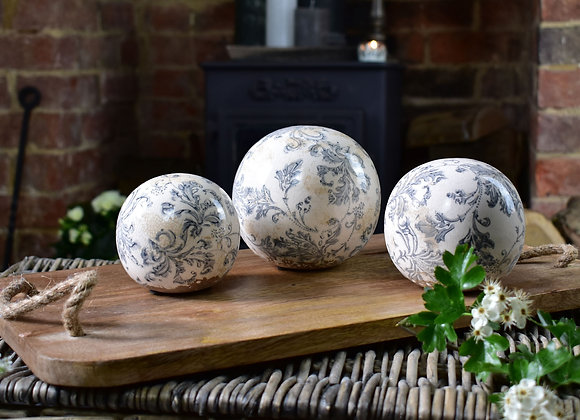 Blue and White French Design Balls