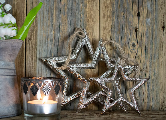 Small Metal Hanging Stars