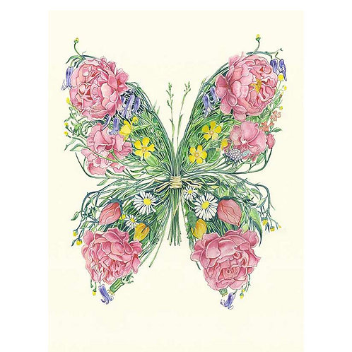 Floral Butterfly Greetings Card