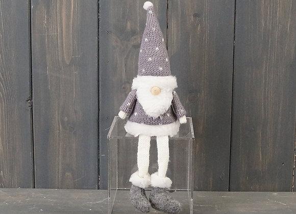 Grey Christmas Felt Gonk