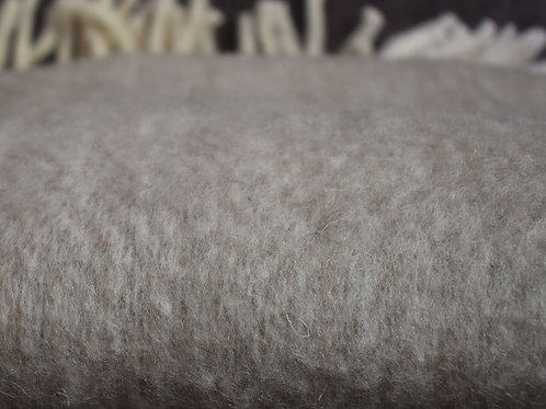 Neutral Colour Washable Wool Mix Throw Sale Price
