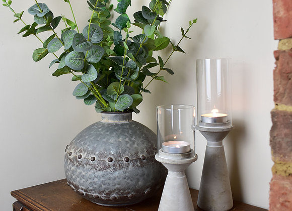 Tall Cement Candle Stick Holders