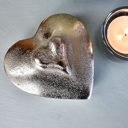 Parlane Metal Trinket Box in the Shape of a Heart