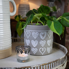 Neutral Indoor Planting Pot on Decorative Table