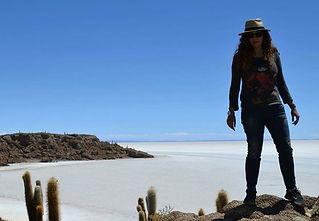 bolivya tuz gölünde gezgin hemşire