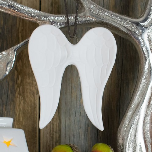 Small White Ceramic Angel Wings