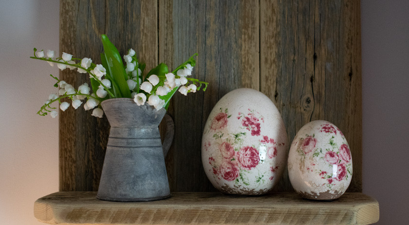 Floral Eggs and Zinc Jug