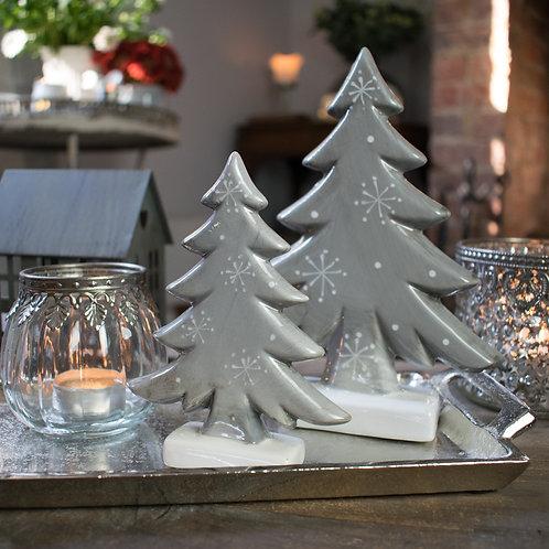 Grey Ceramic Trees for Christmas