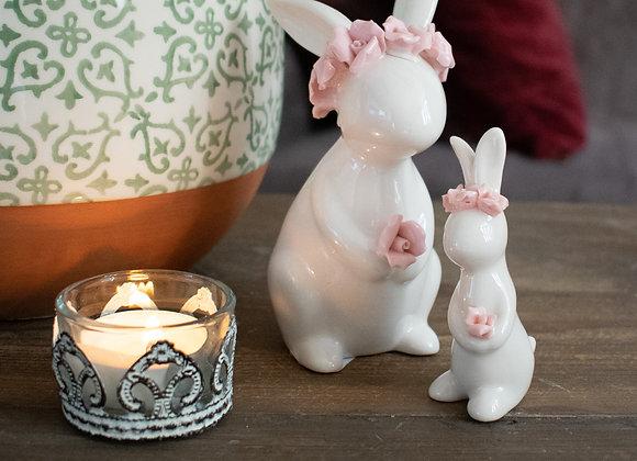 White Ceramic Rabbits