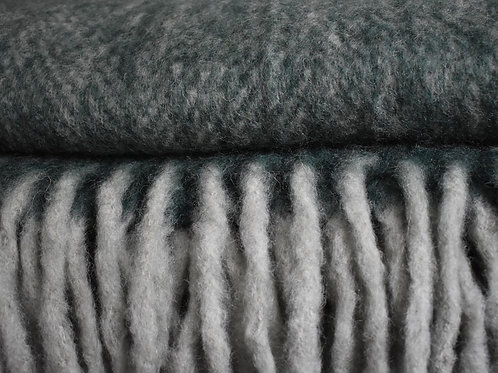 Forest Green Wool Mix Throw
