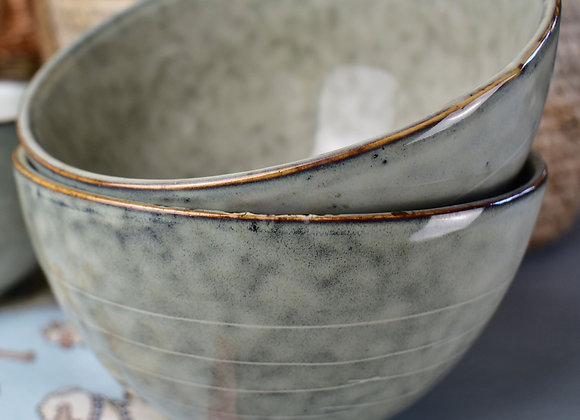 Green Stoneware Bowl Microwave and Dishwasher Safe