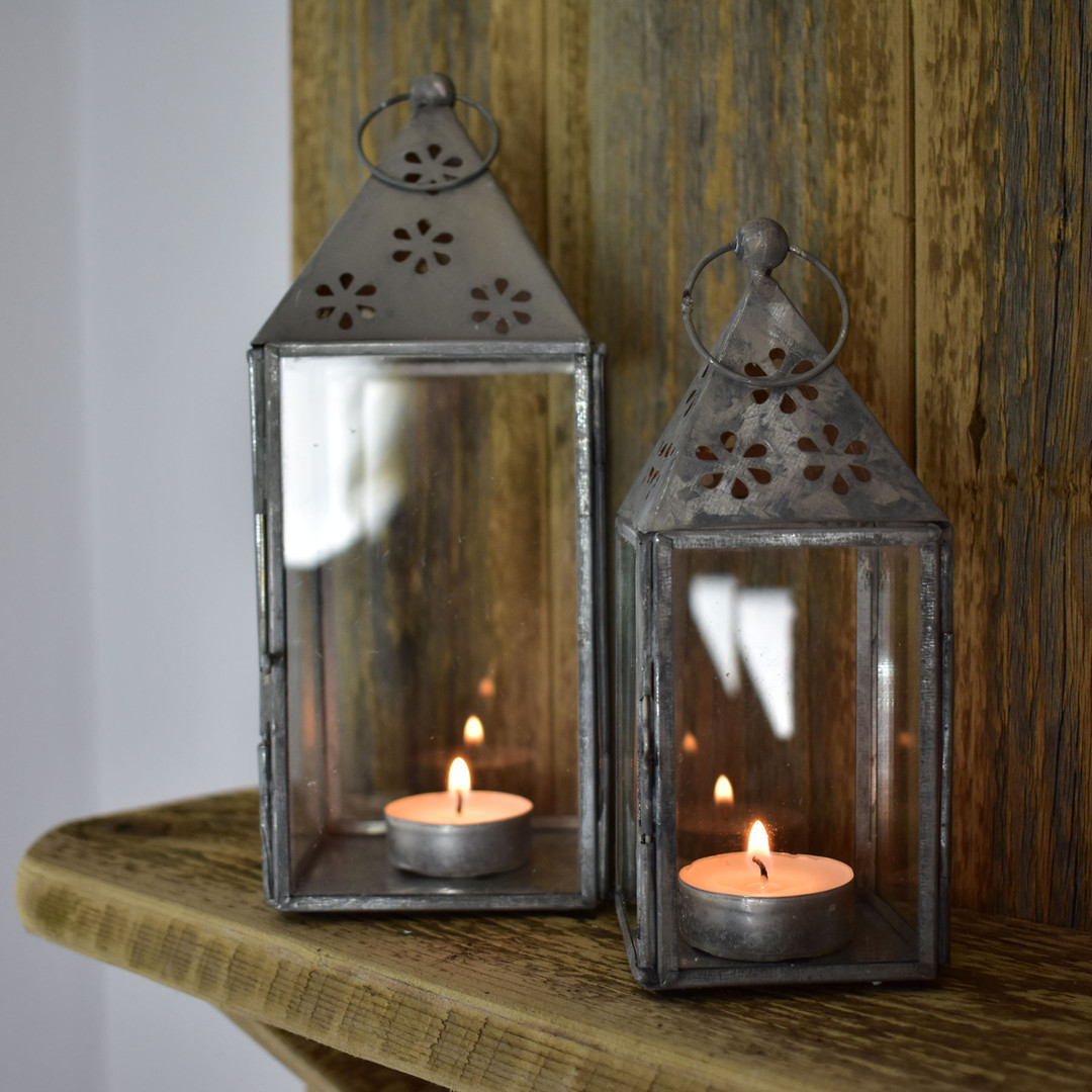 Zinc Lanterns Available in Two Sizes