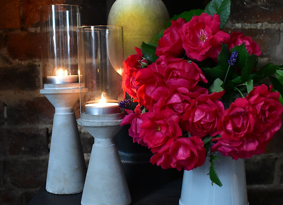 Elegant Candle Holders with Glass Lantern
