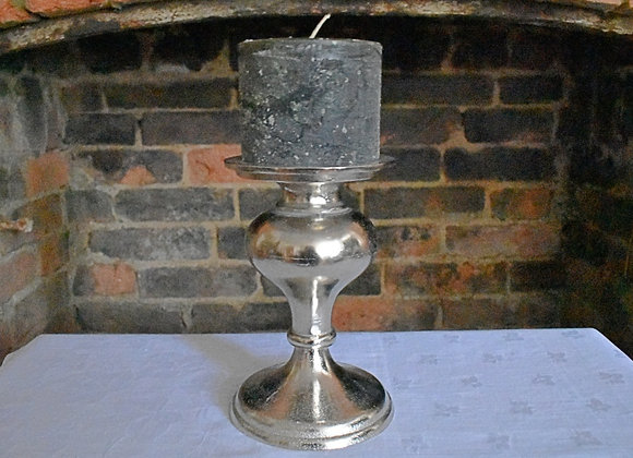 Elegant Nickel Candlestick for Dining Tables