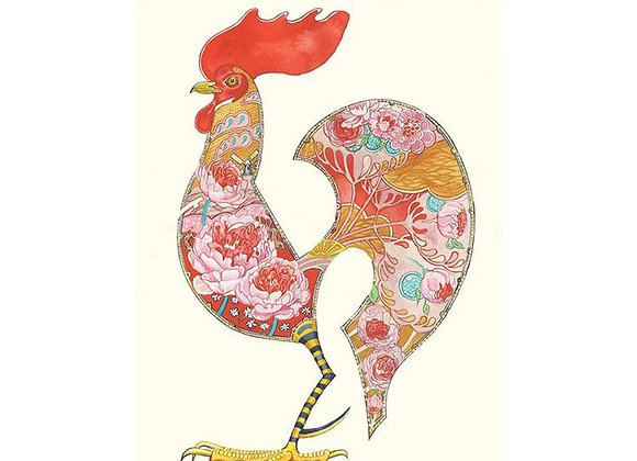 Little Red Rooster Greetings Card