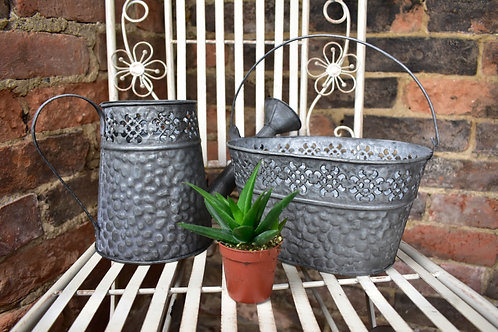 Hammered Zinc Watering Can