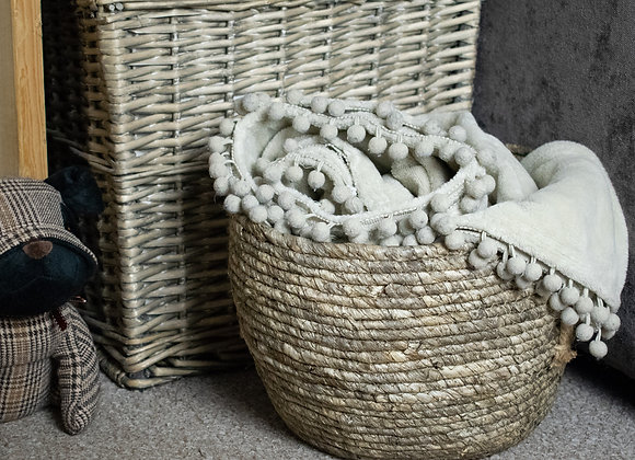 Seagrass Storage Basket with Ear Handles