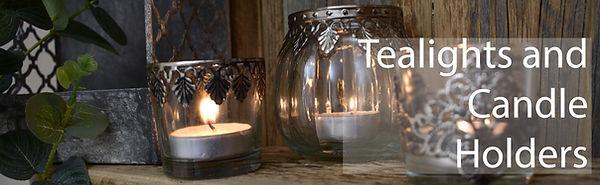 Tealights on Wooden Shelf